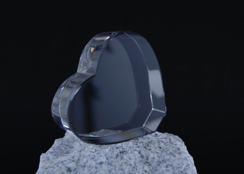 3d kristall w rfel herz - 3d kristall foto ...
