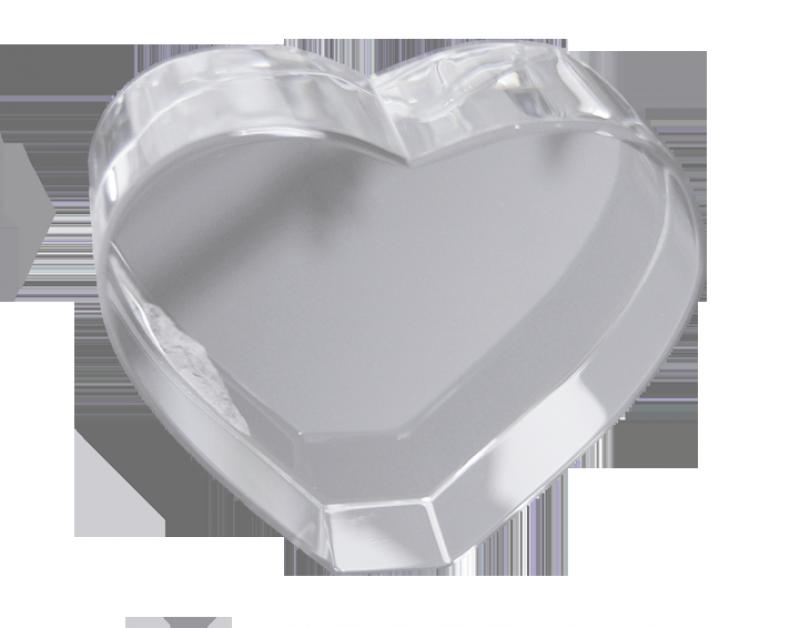 3D Kristall Würfel Herz gross