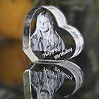 3D Kristall Glas Herz