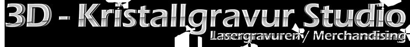 Logo Schriftzug 3D Kristallgravur Studio